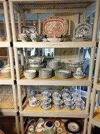 "Looky here  - an entire 105-piece set of ""Blue Danube"" (Japan) blue/white china! I know, you're shocked..."