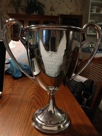 Gorham sterling silver 3 3/4 pint trophy (A3083), from Hillsborough County, FL, dated 1913.