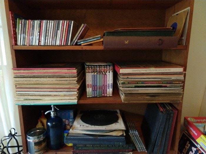 Lot's o' vinyl - 45's, 78's, CD's, etc.