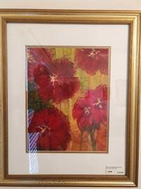 Original floral watercolor, by Atlanta artist, D. B. Love, from Berkeley Lake.