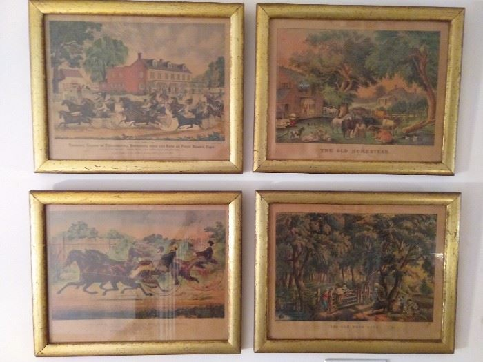 A set of four, vintage Borghese framed prints, from Miller's, in Chattanooga, TN.