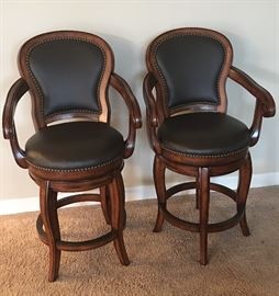 Like Brand New American Heritage Santos Swivel Bar Stools, set of (4) Four