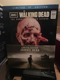 "This is a very highly collectible Limited Edition ""The complete second season"" of AMC The Walking Dead with Zombie Head"
