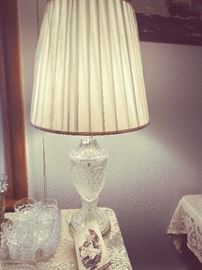 Decorative molded glass Lamp