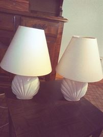Matching Clam Shell Lamps