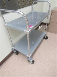Metro Cart with 2 Shelves and Lateral File Cabinet ...