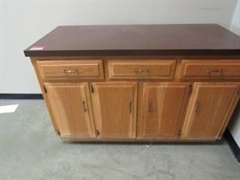 Free Standing Cabinets with Laminate Top