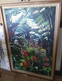 EKT020 Original Oil on Canvas Painting, Signed Hawaiian Scene