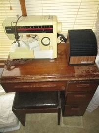 Brother sewing machine and stand
