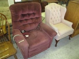 Lift Chair and wingback chair