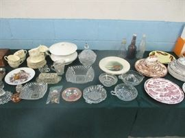 Glassware and plates
