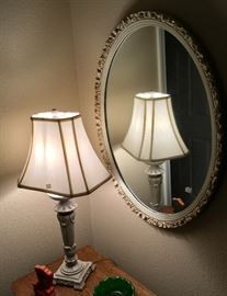 FINE DECOR LAMP & MIRROR