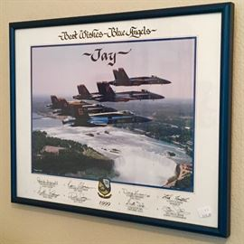 SIGNED 1999 BLUE ANGELS PRINT