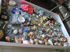 very large collection of enameled & bejeweled boxes