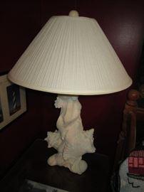 Sea shell lamps