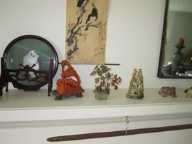 Asian carving and art