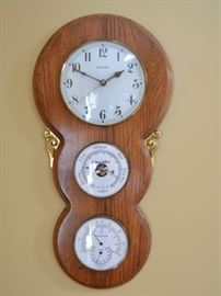 Ethan Allen clock with barometer