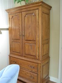 Ethan Allen Royal Charter oak armoire