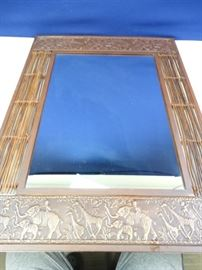 Copper and Bamboo Mirror