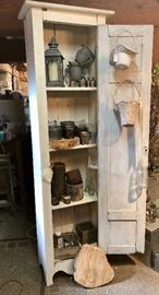 Four shelf pantry hutch.
