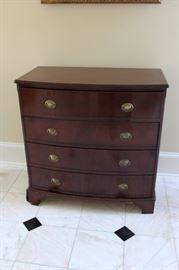 Four drawer mahogany chest