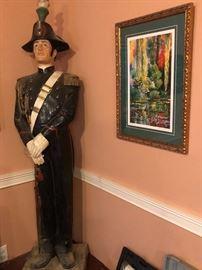 6 Ft Vintage Advertising Galliano Liquor Statue