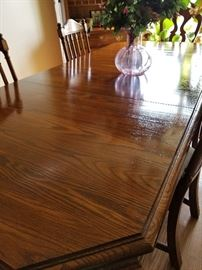 Pennsylvania House Dining Table with Chairs & Cabinet