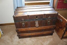 furniture antique trunk