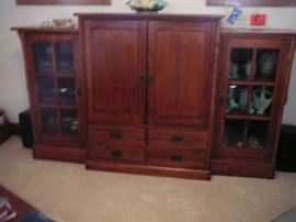 Great Mission Style Entertainment Center by Michael Vermillion (sold for over $3000 new)