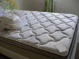 Like new full size mattress and box springs