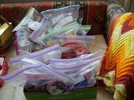 bags of ribbons