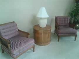 1963 drexel heritage accent chairs