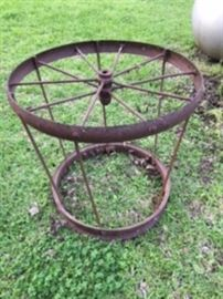 Antique Wagon Wheel Table