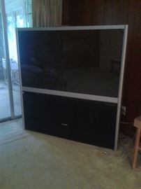 Huge flat screen TV
