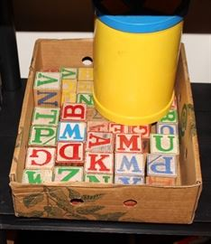 1960s children's alphabet blocks