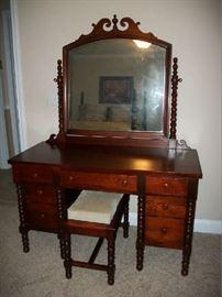 Antique Cherry Dresser and bench