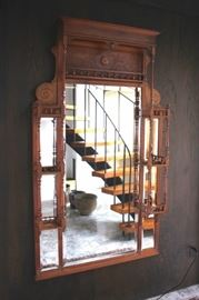 Antique Spindle Wall Rack