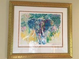 Leroy Neiman  Serigraph '' Bull Elephant '' 161/386