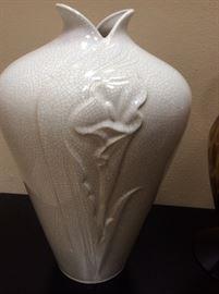 Close up of Haeger vase