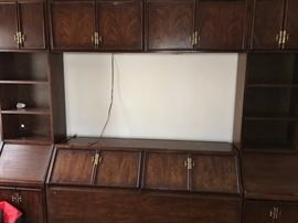Gigantic mid century headboard.  It comes apart for easy transportation and has LOTS of storage space!