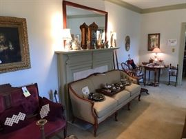 Living room filled with treasures!  Eastlake sette sold!