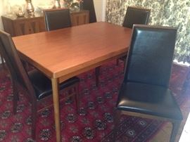 Mid Century Modern Dillingham for Baughman Dining Table w/ 6 Chairs (Perfect Condition)