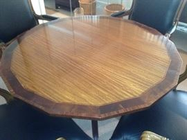 Heritage Heirloom Regency Style Mahogany & Satinwood Inlaid Tilt Top Table
