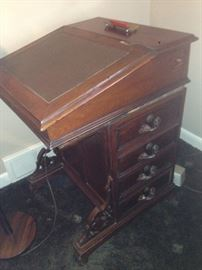 Antique Davenport Desk (Right Side View)