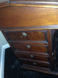 Antique Davenport Desk (Left Side View)