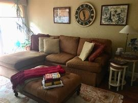 Another sofa with leather ottoman & nesting tables