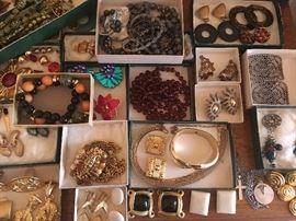 costume jewelry, clip earrings
