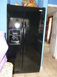 Black Whirlpool Side-by-Side w/Dispensers