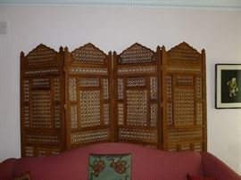 Asian 4-Panel Screen