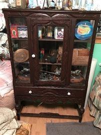Antique walnut hutch
